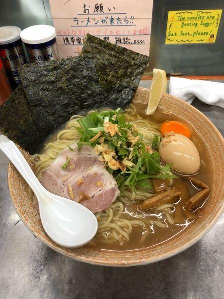 「牡蠣出汁冷やしまぜそば大盛り」@覆麺 智の写真