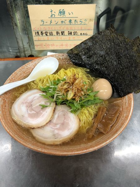 「カメノテ出汁のラーメン塩大盛り」@覆麺 智の写真