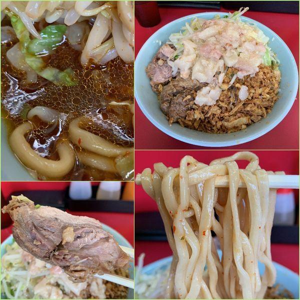 「小ラーメン¥740+つけ味 冷や汁なし¥100」@ラーメン二郎 中山駅前店の写真