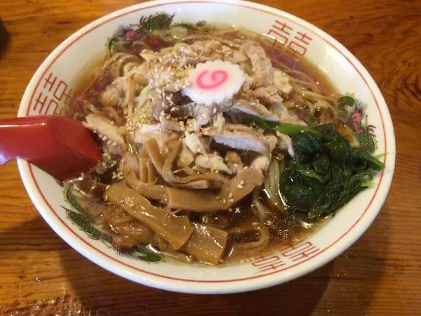 「冷やし鶏中華そば(750¥)大盛無料」@水戸中華そば むじゃき食堂の写真