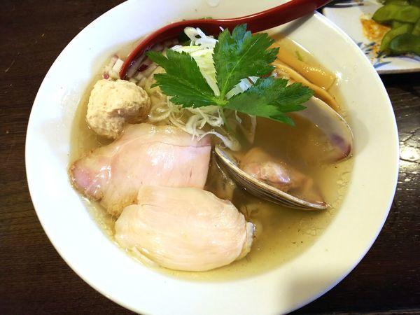 「【9周年限定】貝出汁塩そば 900円」@立ち呑み居酒屋 金町製麺の写真