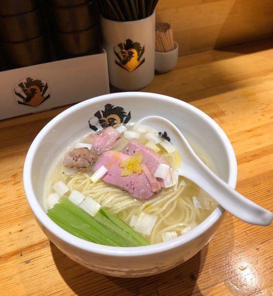 「鴨中華そば (塩) ¥850」@満鶏軒の写真