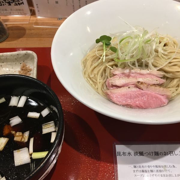 「鴨出汁淡麗昆布水つけ麺」@麺処 ぐり虎 本店の写真