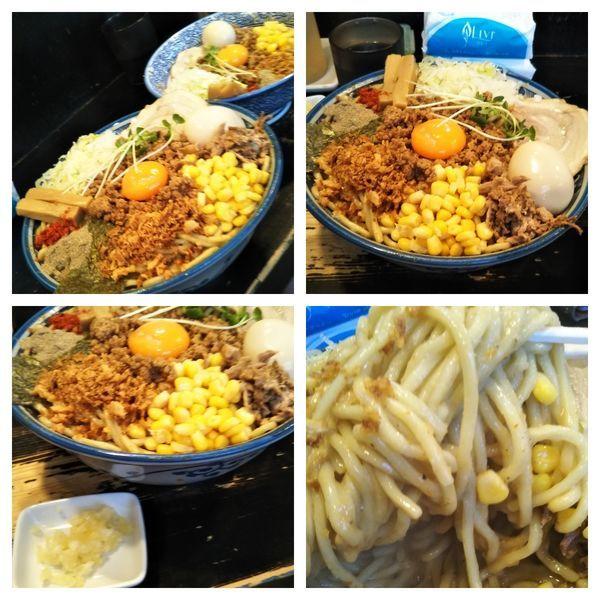 「【限定】味噌バターコーンまぜそば特盛+にんにく」@狼煙 〜NOROSHI〜の写真