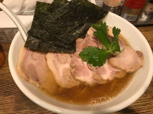 「特製平子煮干そば」@新橋 纏の写真