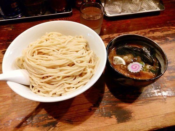 「つけ麺 780円 特盛480g」@麺座でんの写真