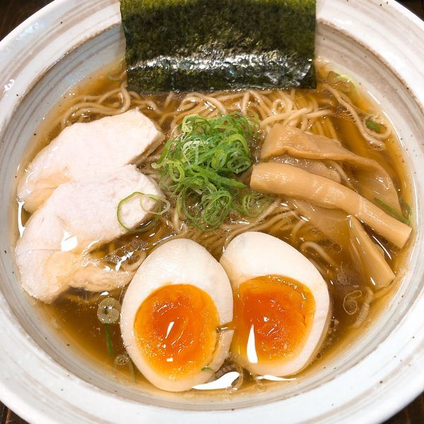「懐かし醤油らーめん ¥500+味玉サービス」@下町ら~めんの写真