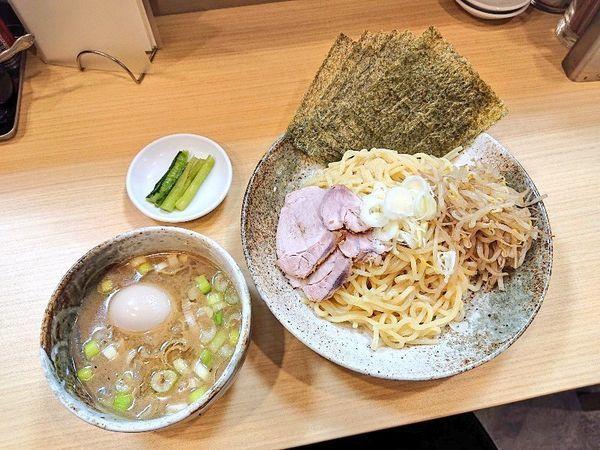 「味噌つけ麺+得トッピング」@味噌と香味油 麺や二双の写真