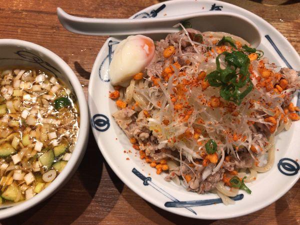 「冷やしおろし肉つけ麺1080円」@麺屋武蔵 新宿本店の写真