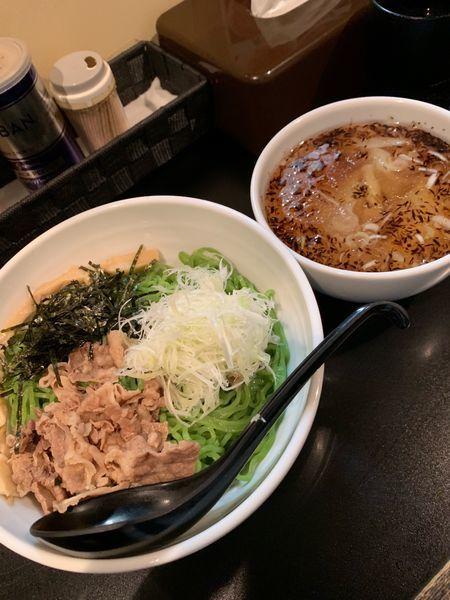 「塩つけ麺850円+ワンタン200円。」@麺や 勝治の写真