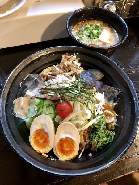 「【限定】冷や汁つけ麺 ¥850」@麺や 笑 ~Sho~の写真