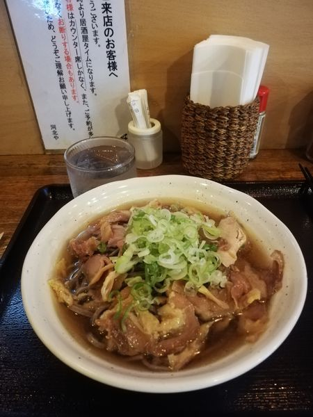 「肉そば 【冷たい】肉ダブル 570円」@河北やの写真
