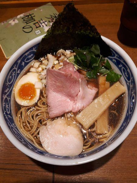 「煮干しそば黒醤油690円」@寿製麺よしかわ 川越店の写真
