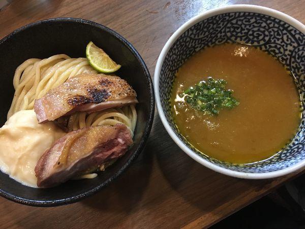「【限定】黒さつま濃厚塩つけ麺」@煮干しつけ麺 宮元の写真