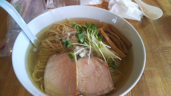 「塩らーめん+大盛」@湖麺屋 Reel Cafeの写真