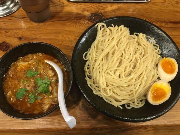 「爆裂つけ麺+味玉」@竹麓輔らーめん創作工房の写真