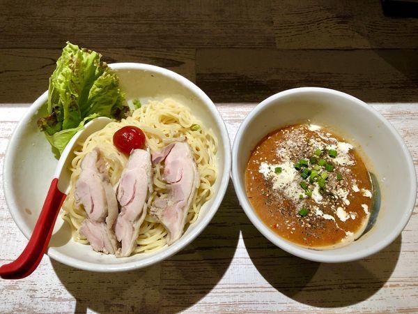 「【限定】冷やしトマトつけ麺 ¥900」@麺屋 誉の写真