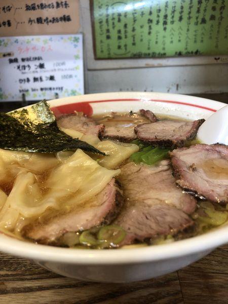 「チャーシューワンタン麺」@青竹平打ち中華そば 麺壱吉兆の写真