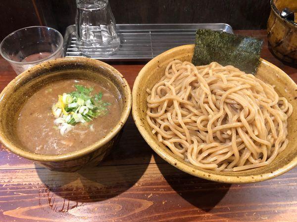 「つけ麺 熱盛 胚芽麺 特盛 420g 890円」@麺屋 えん寺の写真