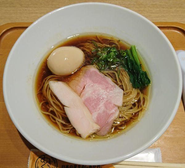 「【麺や 福はら】芳醇鶏そば(醤油)+味玉」@むぎくらべの写真