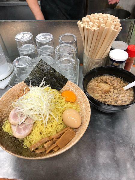 「秋刀魚出汁つけそば大盛り」@覆麺 智の写真
