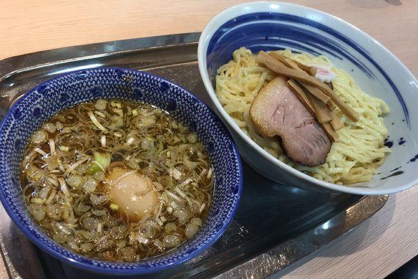 「魚介つけめん+麺中盛+トッピング味付玉子」@魚介系醤油拉麺専科 海空土の写真