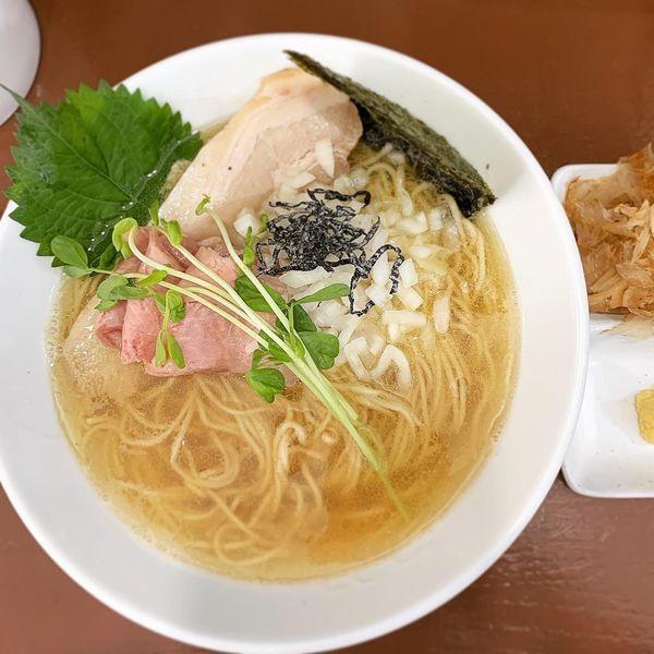 「追い鰹の塩蕎麦」@中華そば うお青の写真