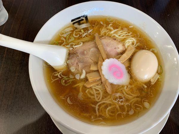 「らー麺 790円、中盛100円、味玉券」@煮干らー麺 カネショウ 四街道の写真