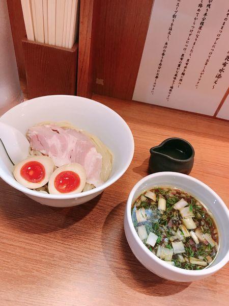 「味玉つけ麺」@鶏そば 煮干そば 花山の写真
