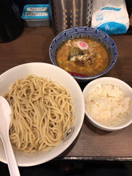 「限定キーマカレーつけ麺」@狼煙 東大宮店の写真