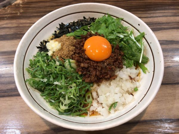 「カレー台湾まぜそば」@麺屋 はるか 秋葉原店の写真