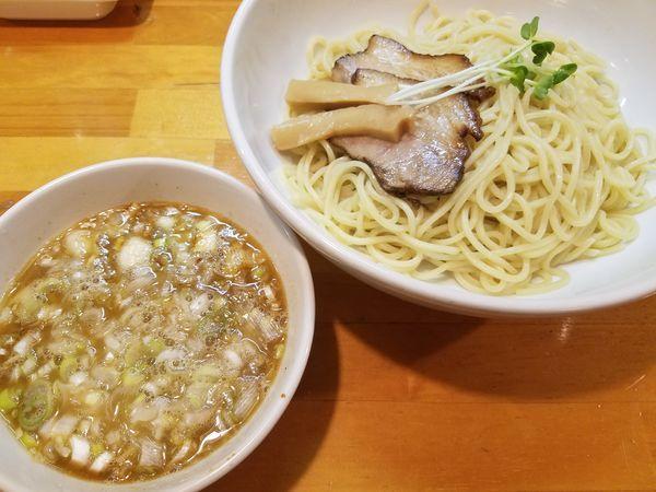 「ネギつけ麺 大盛 あつもり」@烏城の写真