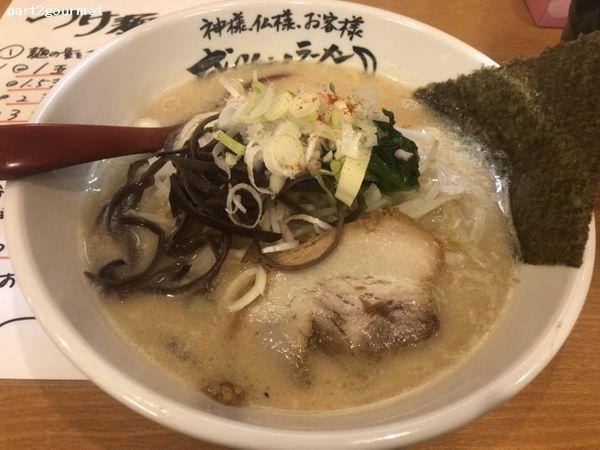 「とんこつ醤油ラーメン (686円)税別」@らーめん神月 赤井町店の写真