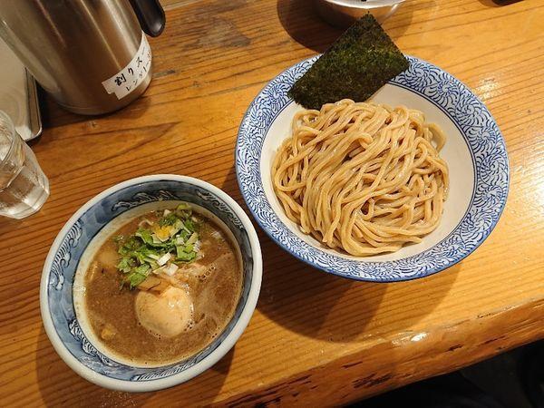 「濃厚味玉入りつけ麺(胚芽麺)」@道玄坂マンモスの写真