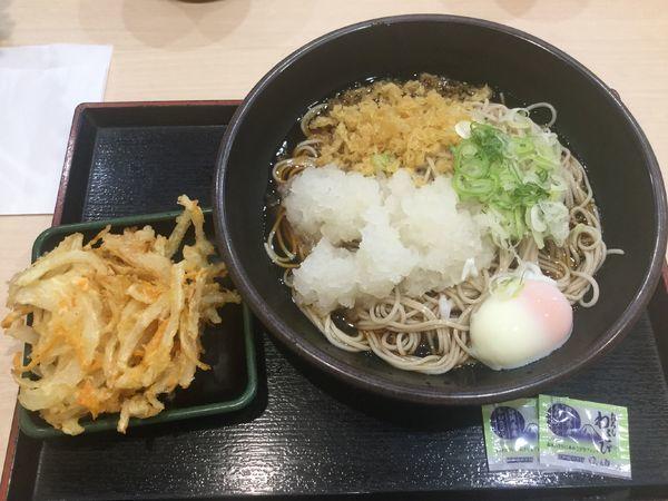 「朝そば玉子+おろし(¥330+クーポン)」@ゆで太郎 竹橋店の写真