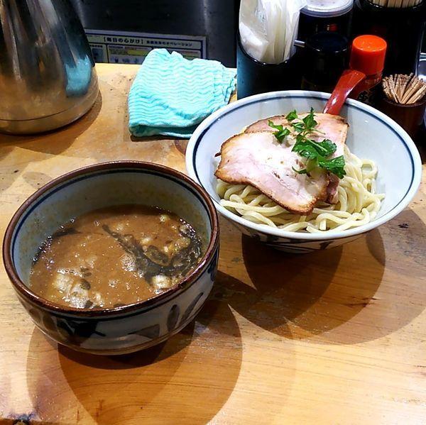 「濃厚煮干つけ麺(並盛)」@煮干麺 月と鼈の写真