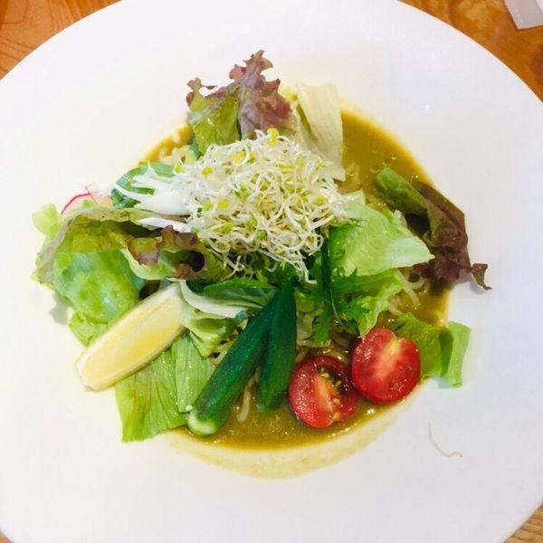 「冷やし 緑のvege味噌ヌードル 中華麺」@Vegetable Noodle Tadocoroの写真