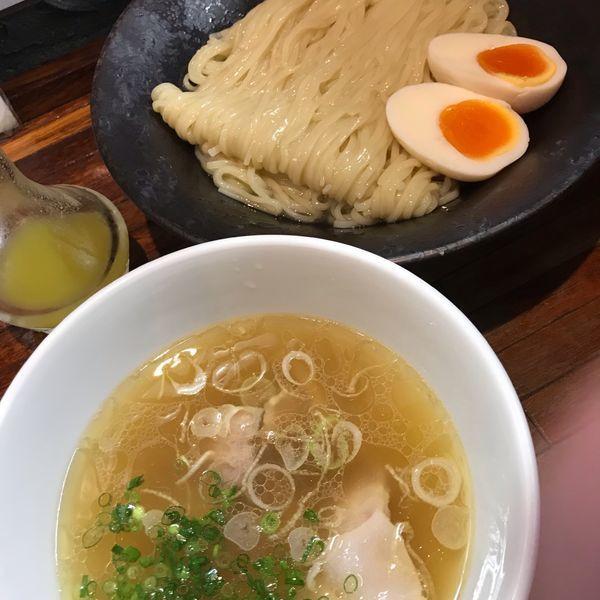 「味玉つけ麺(1,050円)」@町田汁場 しおらーめん進化 町田駅前店の写真