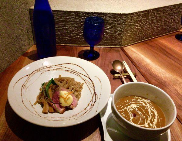 「鴨つけ麺 みかんソース M ver.」@Gion Duck Noodlesの写真
