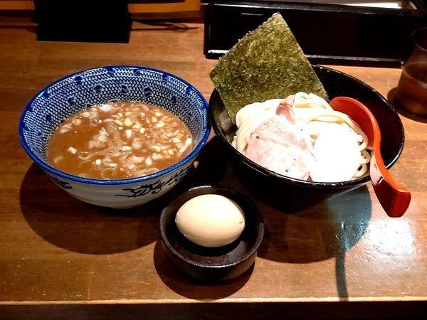 「豚骨魚介つけ麺(並・200g)800円+味玉(ラーパス無料)」@麵屋 食べいろの写真