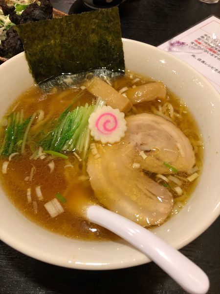 「佐野ラーメン醤油690円」@佐野ラーメン・佐野黒から揚げ 進ちゃんの写真