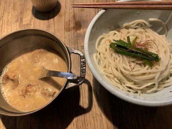 「もつつけ麺 900円」@和醸良麺 すがりの写真