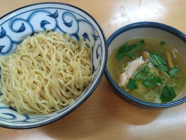 「(限定)浅利出汁どぅるん昆布がけ、鶏SIOつけ麺¥950」@㐂九家の写真
