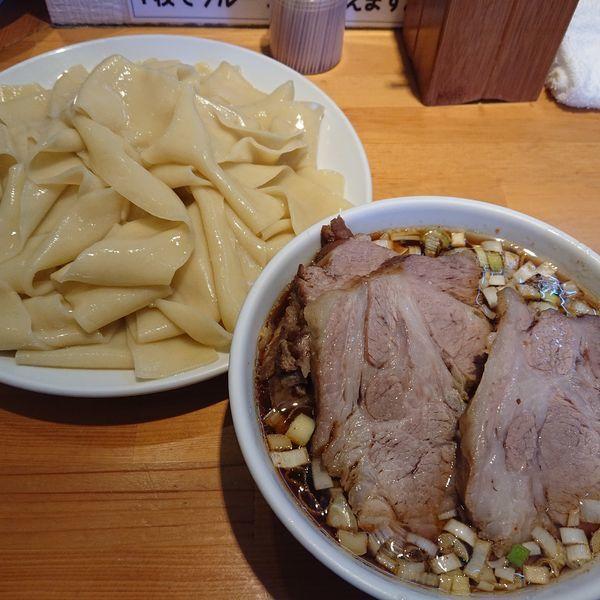 「つけめん凄平麺チャーシュー大盛1150円、味玉100円」@らぁめん りきどうの写真