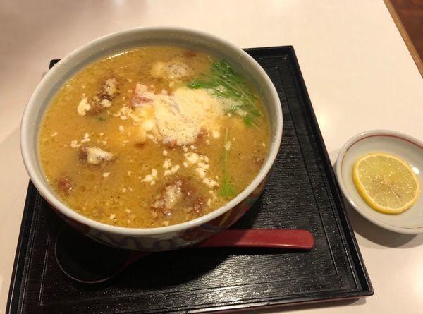 「味噌チーズとりラーメン」@京風らーめん・あんみつ はなむらの写真