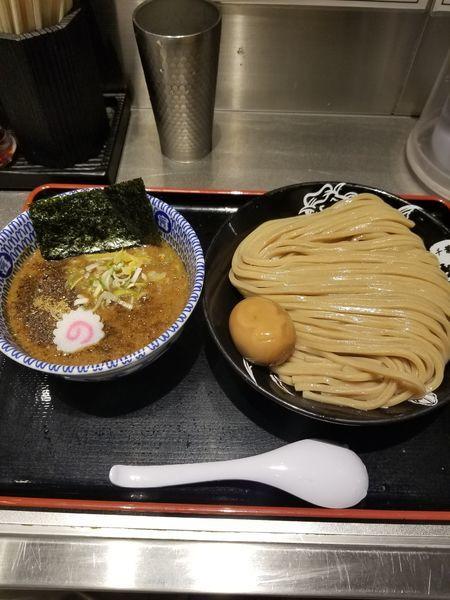 「半熟味玉濃厚つけめん大」@松戸富田麺絆の写真