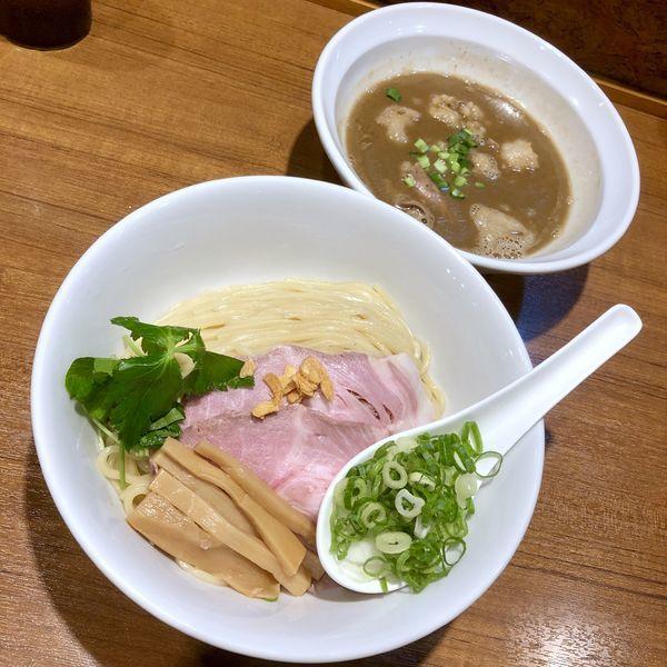 「【限定】和牛上もつ✕豚✕魚のつけ麺¥980+大盛り¥100」@寿製麺よしかわ 川越店の写真
