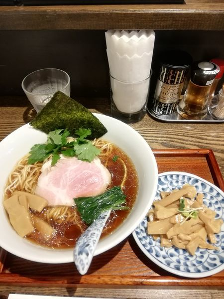 「Ra-men濃口醤油 780円 穂先メンマ 100円」@メンドコロ Kinariの写真