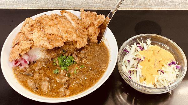 「牛すじカレー」@自家製麺SHINの写真