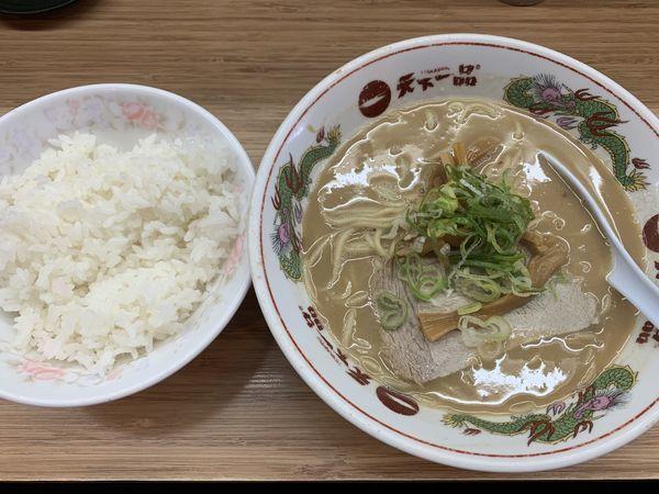 「ラーメンライス定食 820円」@天下一品 小禄店の写真